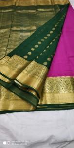 Pure mysore silk sarees with patli pallu