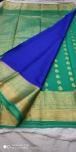 Pure mysore silk sarees with patli pallu