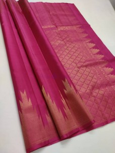 Pure kanchipuram handloom temple border sarees