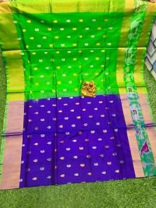 Uppada pattu sarees with pochampally border