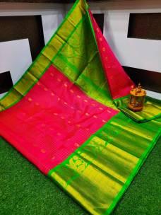 Kanchi kuppadam pattu sarees
