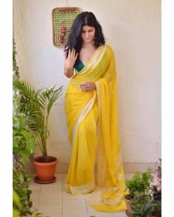 Pure banarasi chiffon sarees