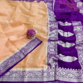 Pure chiffon banarasi sarees