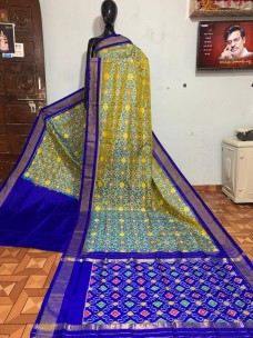 Pure pochampally ikat silk sarees