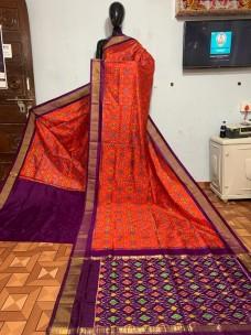 Pure pochampally ikat silk sarees