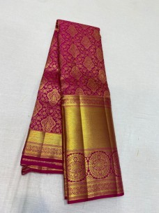 Traditional wedding silk sarees
