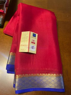 60 gram thickness pure mysore silk sarees