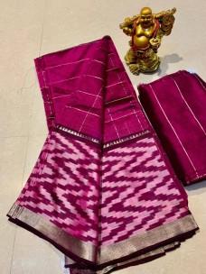 Mangalagiri silk checks sarees