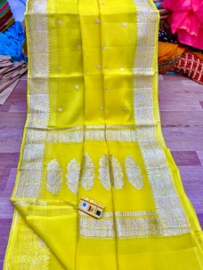 Pure chiffon georgette khaddi handloom banarasi sarees