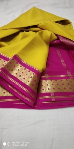 Latest Mysore crepe silk sarees