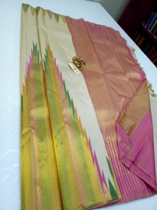 Pure kanchipuram temple border sarees