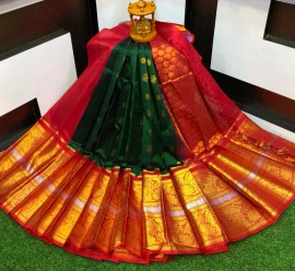 Kuppadam sarees with kanchi border