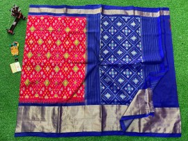 Pochampally ikat silk sarees with double weaving