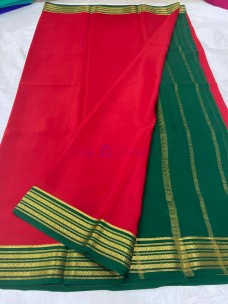 KSIC thickness pure mysore silk crepe sarees
