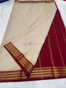 KSIC thickness pure mysore crepe sarees