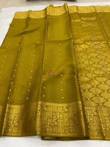 KSIC grade Pure mysore silk embose sarees