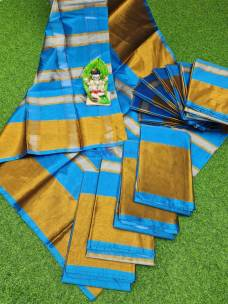 Uppada tissue by cotton sarees
