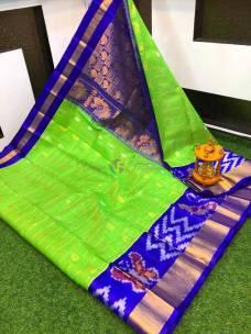 Kuppadam checks sarees with pochampally border