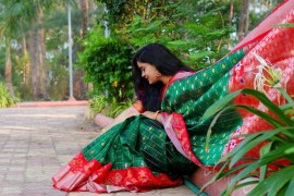 Kuppadam pattu checks sarees with pochampally border