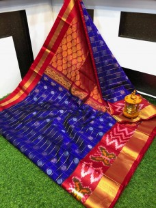 Kuppadam pattu checks sarees with pochampally border