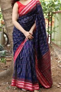 Pure handloom mercerised ikkat Cotton sarees