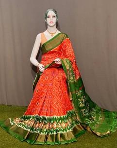 Exclusive pochampally ikkat silk sarees