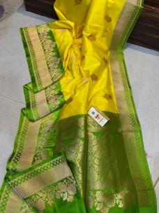 Pure banarasi katan silk sarees with antique jari