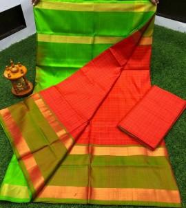 Uppada pattu Mahanati checks sarees