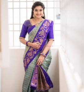 Chanderi kuppadam sarees with kanchi border
