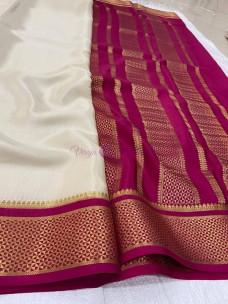 100 counts pure mysore silk sarees