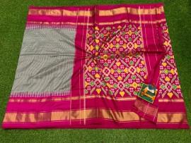 Pochampalli ikat silk sarees with design pallu