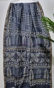 Chanderi silk cotton block print sarees