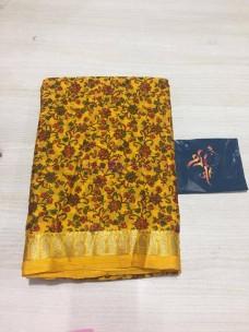 Crepe printed sarees