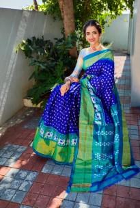 Handloom Ikkat silk sarees