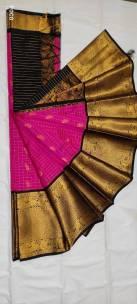 Kuppadam pattu sarees with kanchi border