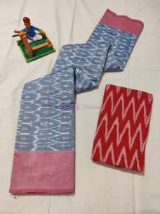 Ikat mercerised cotton sarees