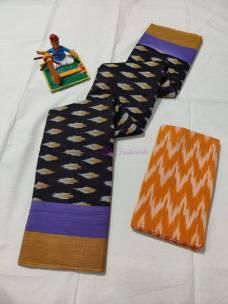 Handloom ikkat cotton sarees