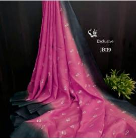 Pink by blue linen