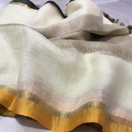 White and brown linen by lien