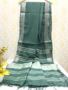 Green slub linen