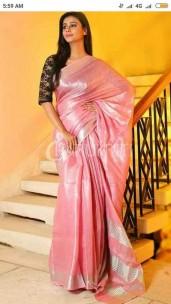 Pink tissue linen