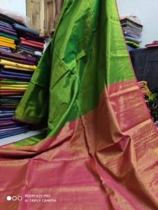 Parrot green tissue linen