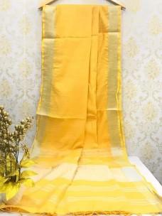 Sandal yellow slub linen