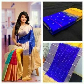 Multi-color uppada sarees with butti