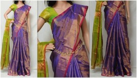 Purple uppada tissue sarees