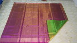 purple colour with green uppada tissue silk sarees