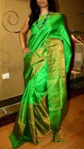 Light green Uppada half and half tissue sarees
