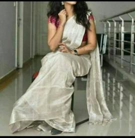 Uppada silver tissue sarees