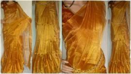 Gold Uppada tissue sarees
