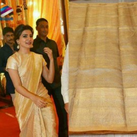 Light gold Uppada tissue sarees